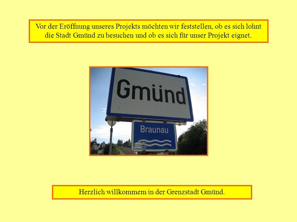 Vor der Eröffnung unseres Projekts möchten wir feststellen, ob es sich lohnt die Stadt Gmünd zu besuchen und ob es sich für unser Projekt eignet. Herz