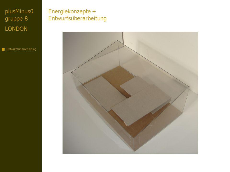 plusMinus0 gruppe 8 LONDON Entwurfsüberarbeitung Energiekonzepte + Entwurfsüberarbeitung