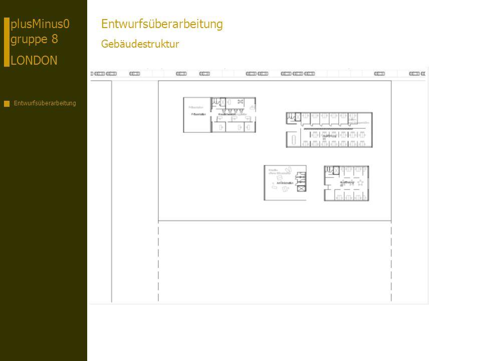 plusMinus0 gruppe 8 LONDON Entwurfsüberarbeitung Gebäudestruktur