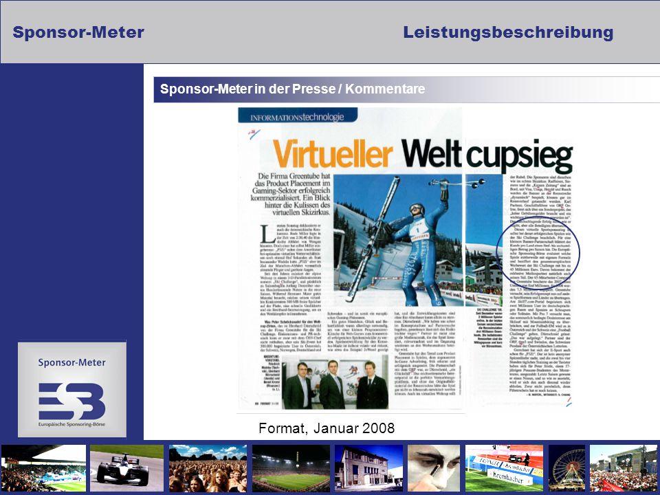 Sponsor-MeterLeistungsbeschreibung Sponsor-Meter in der Presse / Kommentare Format, Januar 2008