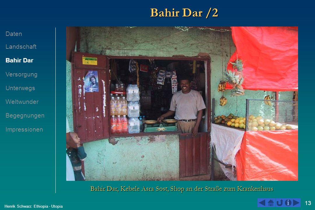 13 Henrik Schwarz: Ethiopia - Utopia Bahir Dar /2 Bahir Dar, Kebele Asra Sost, Shop an der Straße zum Krankenhaus Daten Landschaft Bahir Dar Versorgun