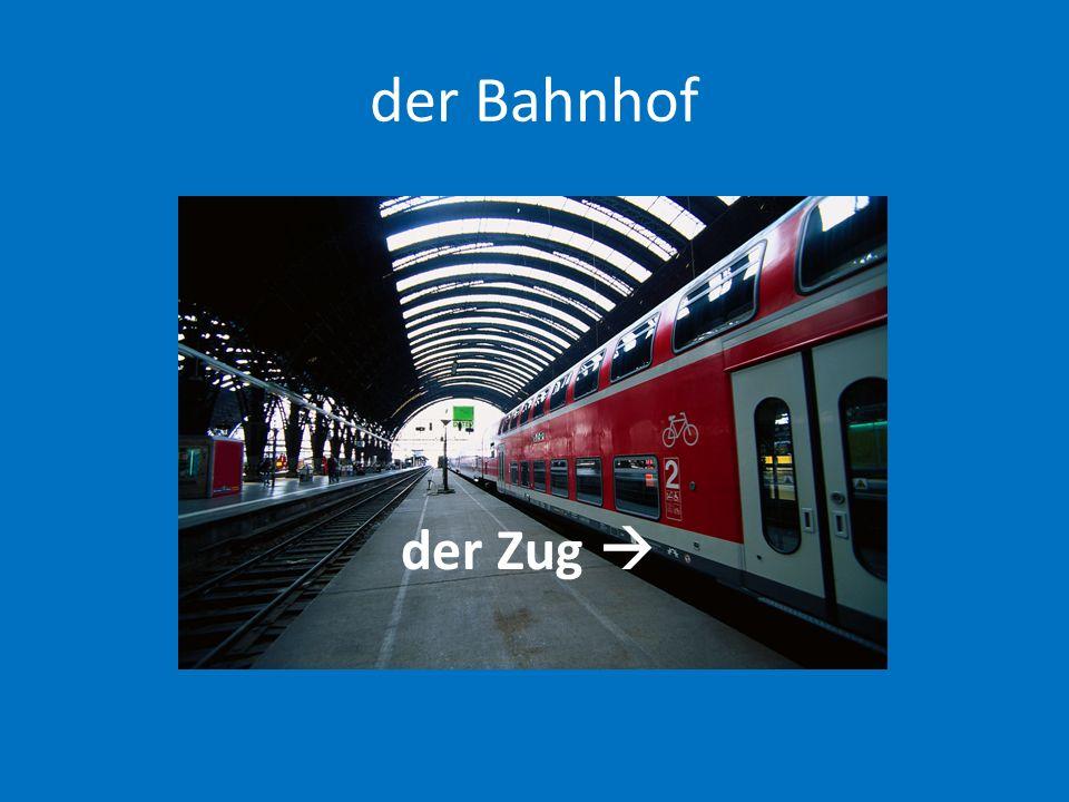 der Bahnhof der Zug