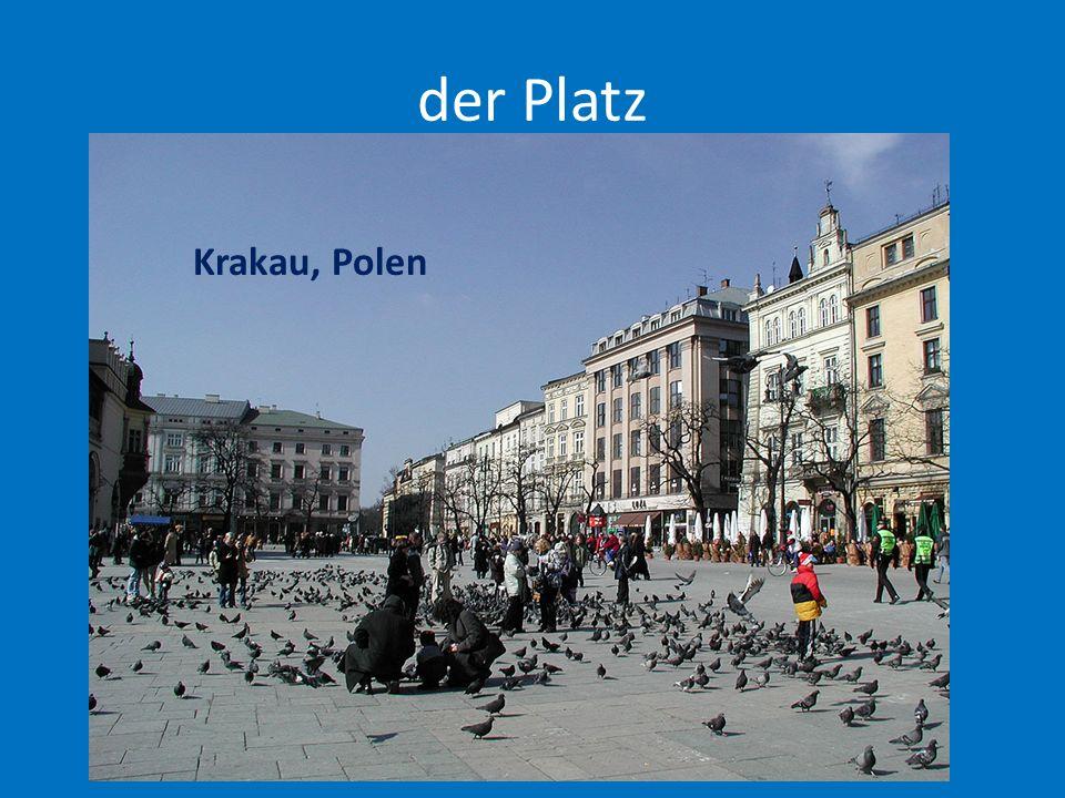 der Platz Krakau, Polen