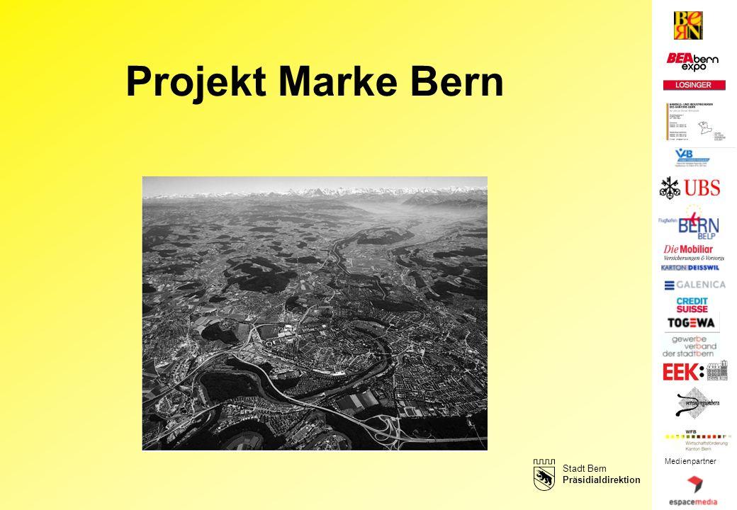Medienpartner Stadt Bern Präsidialdirektion Projekt Marke Bern