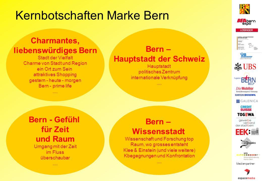Charmantes, liebenswürdiges Bern Stadt der Vielfalt Charme von Stadt und Region ein Ort zum Sein attraktives Shopping gestern - heute - morgen Bern - prime life....