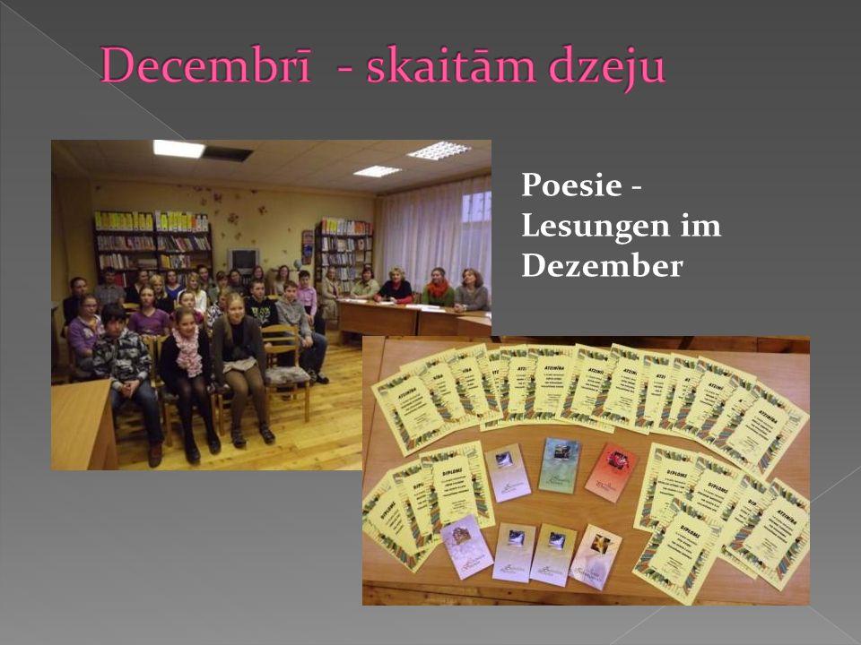 Poesie - Lesungen im Dezember
