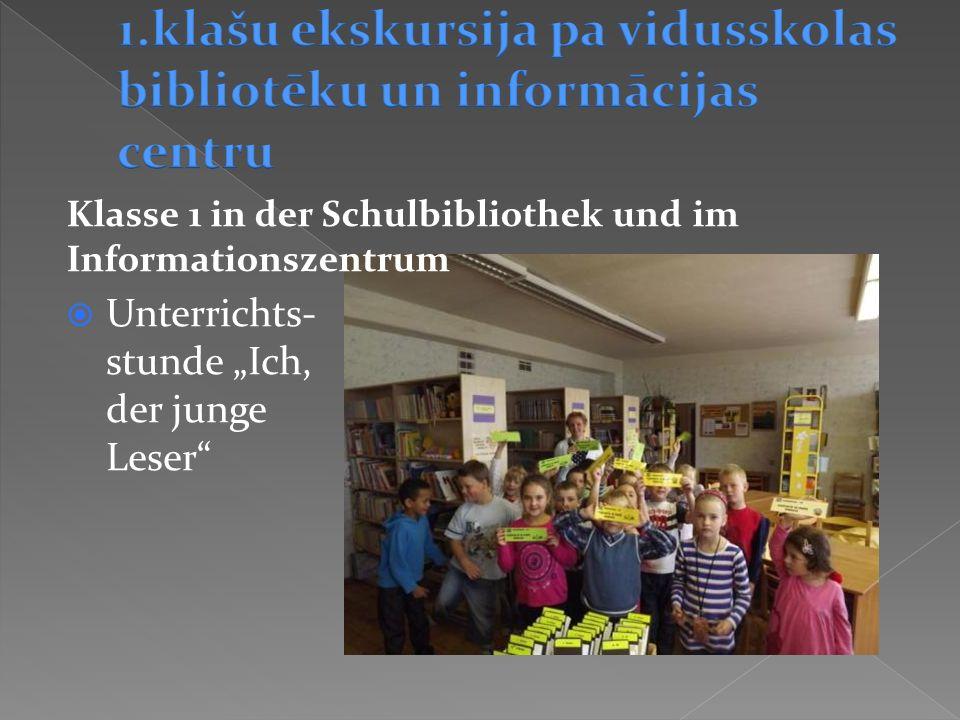Unterrichts- stunde Ich, der junge Leser Klasse 1 in der Schulbibliothek und im Informationszentrum