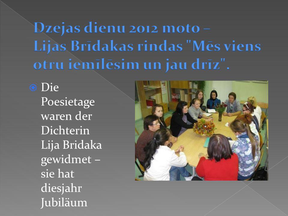 Die Poesietage waren der Dichterin Lija Bridaka gewidmet – sie hat diesjahr Jubiläum