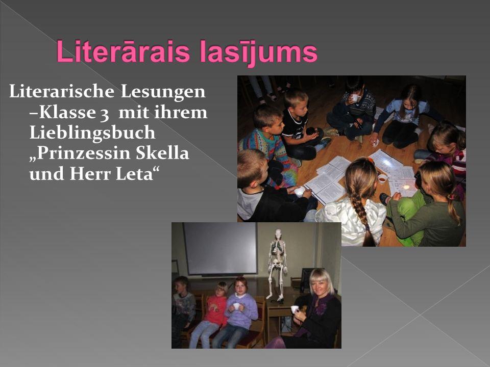 Literarische Lesungen –Klasse 3 mit ihrem Lieblingsbuch Prinzessin Skella und Herr Leta