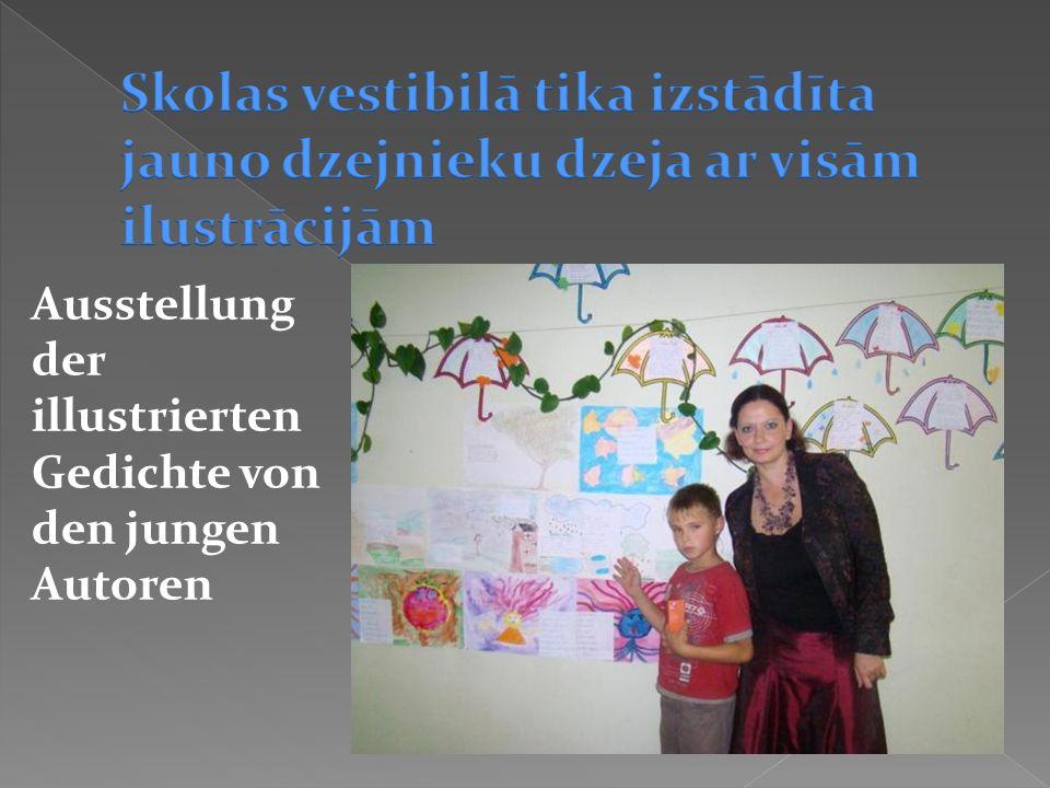 Ausstellung der illustrierten Gedichte von den jungen Autoren