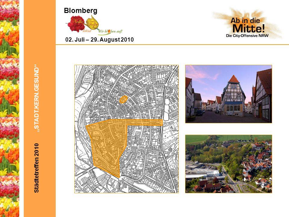 Städtetreffen 2010 STADT.KERN.GESUND Bild aus Blomberg 02. Juli – 29. August 2010 Blomberg