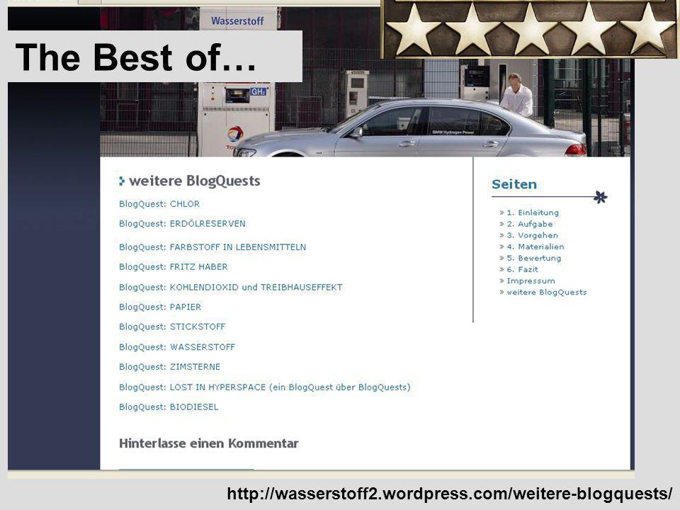 http://wasserstoff2.wordpress.com/weitere-blogquests/ The Best of…