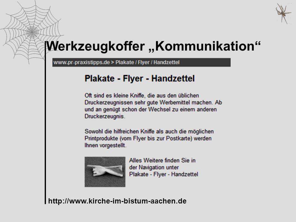 Werkzeugkoffer Kommunikation http://www.kirche-im-bistum-aachen.de