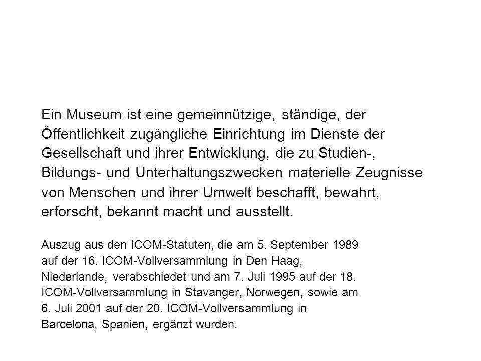 Das Museum als Identitätsfabrik, d.h.