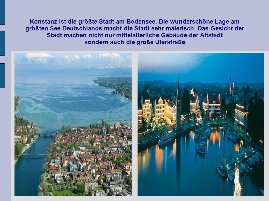 Konstanz ist die größte Stadt am Bodensee. Die wunderschöne Lage am größten See Deutschlands macht die Stadt sehr malerisch. Das Gesicht der Stadt mac