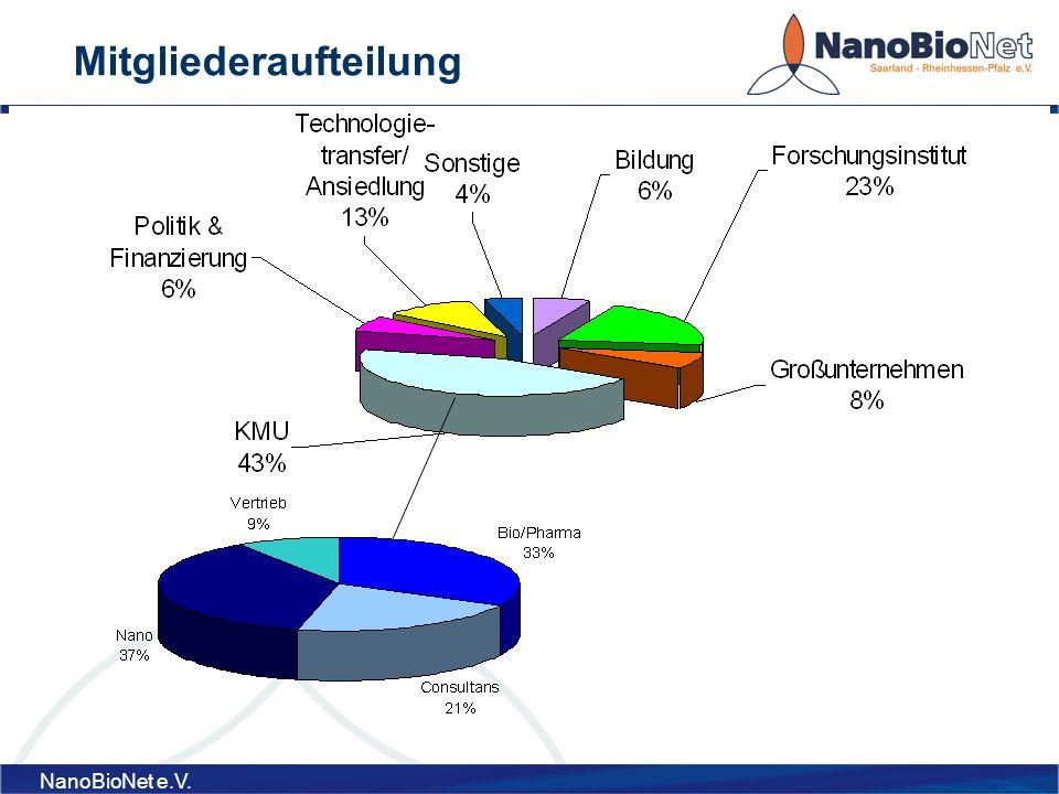 NanoBioNet e.V. Mitgliederaufteilung