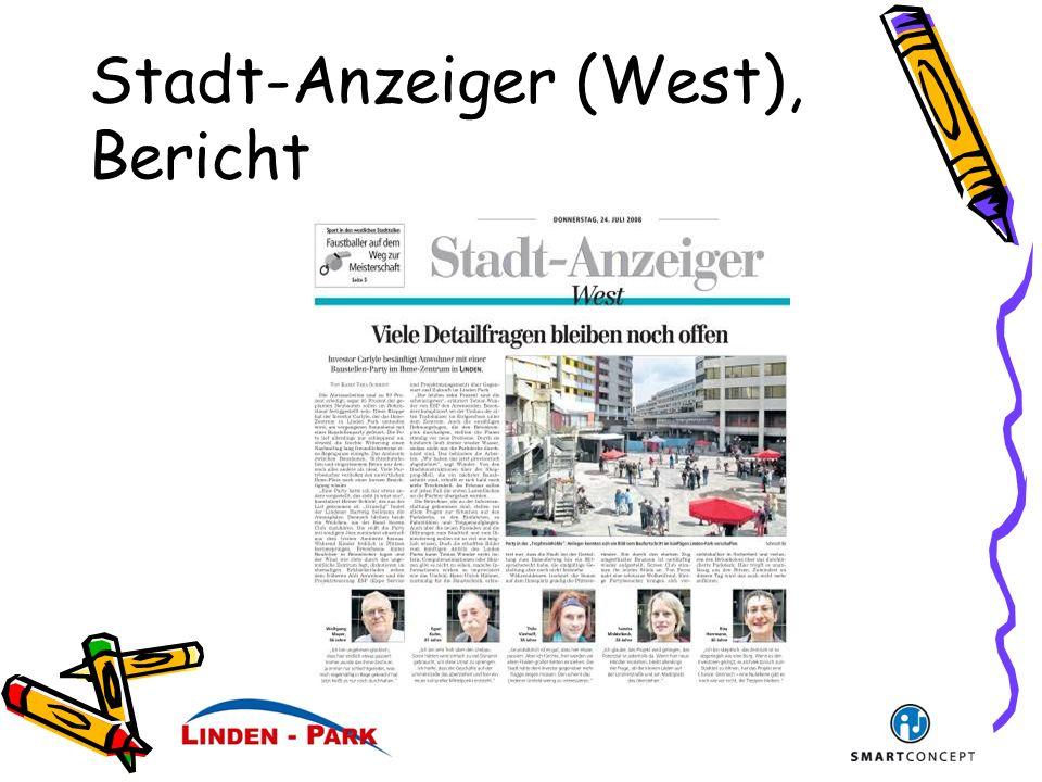 Stadt-Anzeiger (West), Bericht