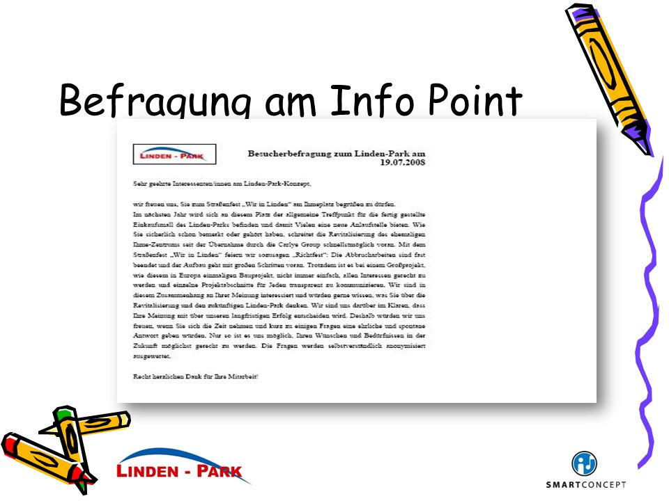 Befragung am Info Point