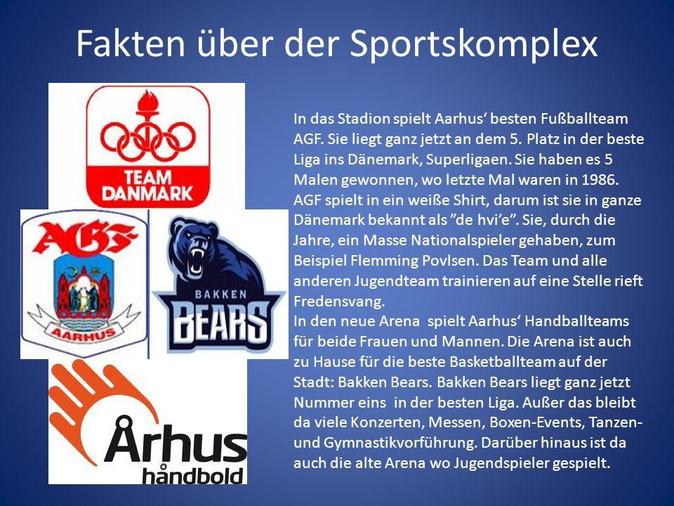 Fakten über der Sportskomplex In das Stadion spielt Aarhus besten Fußballteam AGF.