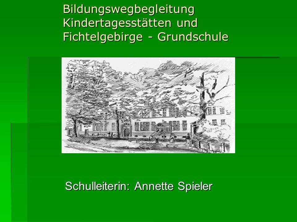 Bildungswegbegleitung Kindertagesstätten und Fichtelgebirge - Grundschule Schulleiterin: Annette Spieler