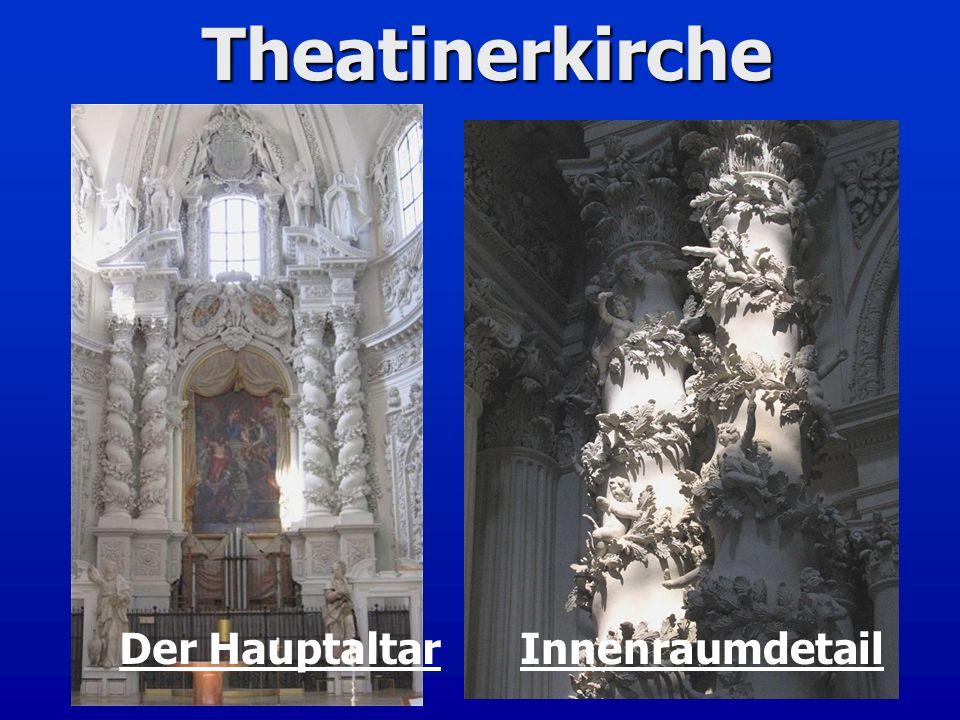Theatinerkirche InnenraumdetailDer Hauptaltar