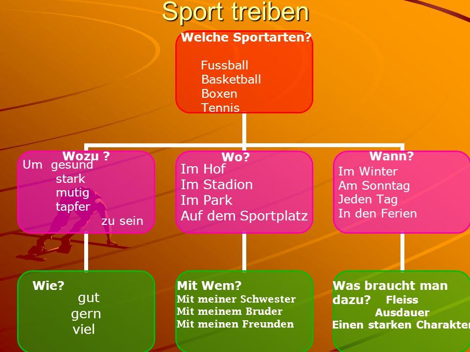 Sport treiben Welche Sportarten.