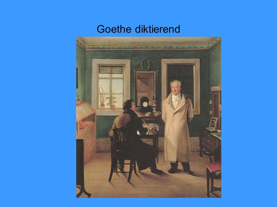 Goethe diktierend