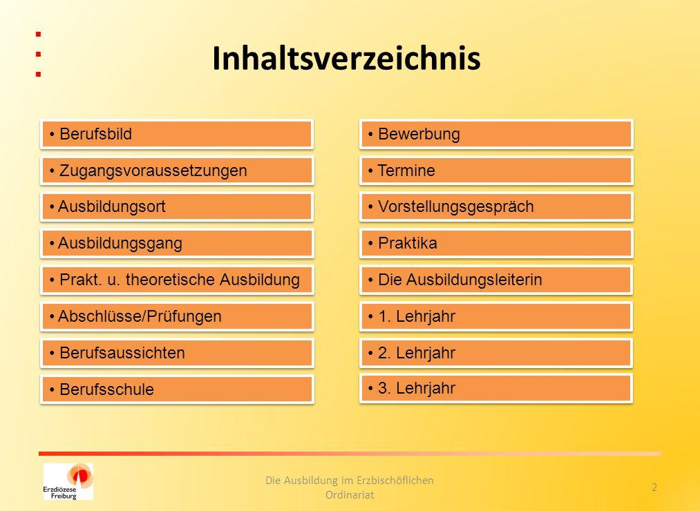 23 Die Ausbildung im Erzbischöflichen Ordinariat Prüflinge 2011/2012 Zurück Ausbildungsziel erreicht!!!