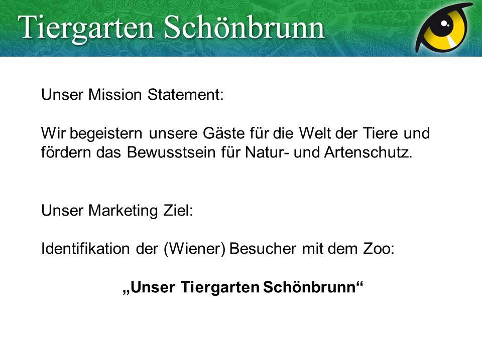 Unser Mission Statement: Wir begeistern unsere Gäste für die Welt der Tiere und fördern das Bewusstsein für Natur- und Artenschutz. Unser Marketing Zi