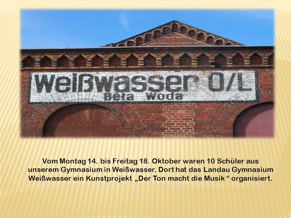 Vom Montag 14. bis Freitag 18. Oktober waren 10 Schüler aus unserem Gymnasium in Weißwasser.