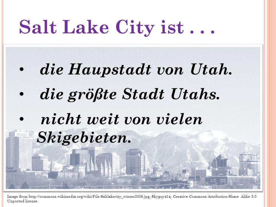 Park City ist... Nicht weit von Salt Lake. In den Bergen.