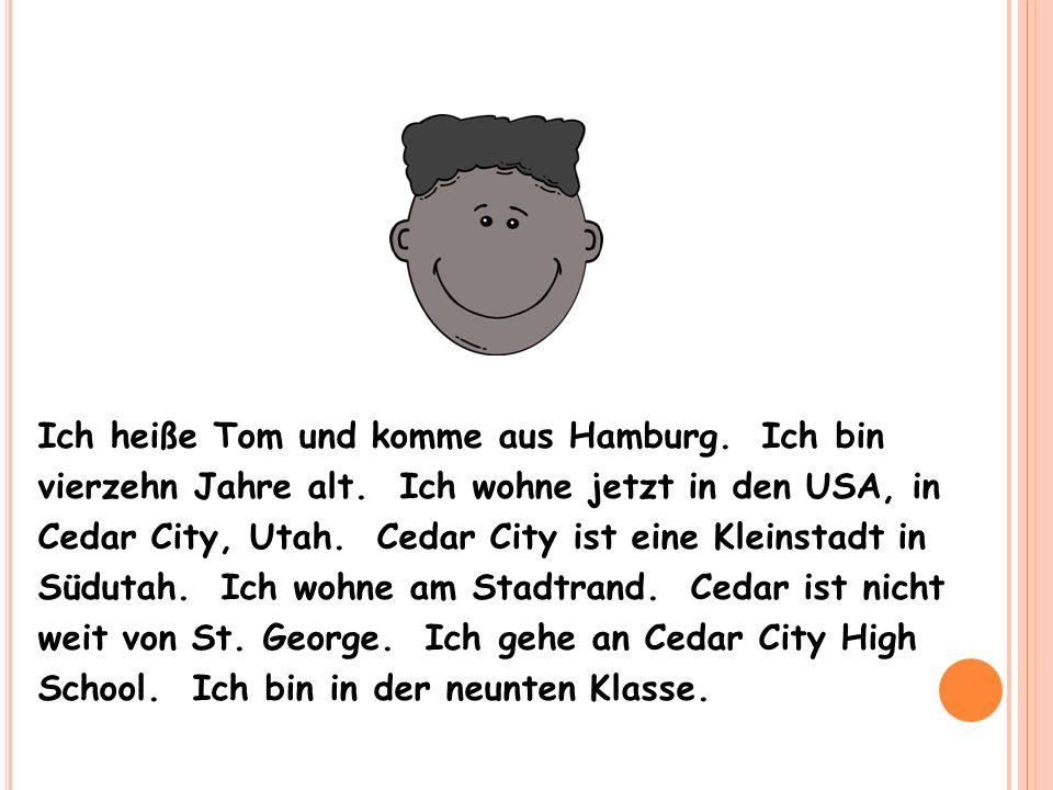 Ich heiße Peter und komme aus Berlin.