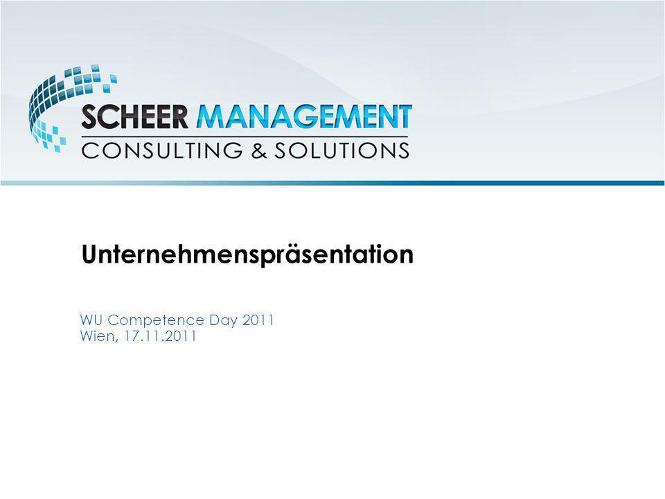 Unternehmenspräsentation WU Competence Day 2011 Wien, 17.11.2011