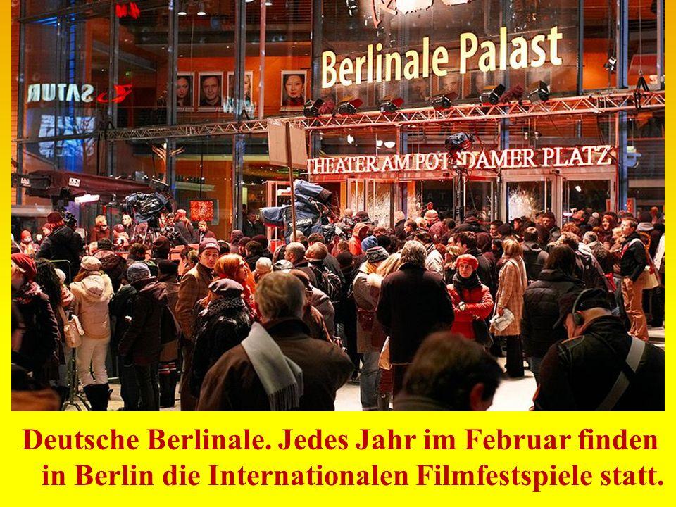Deutsche Berlinale. Jedes Jahr im Februar finden in Berlin die Internationalen Filmfestspiele statt.