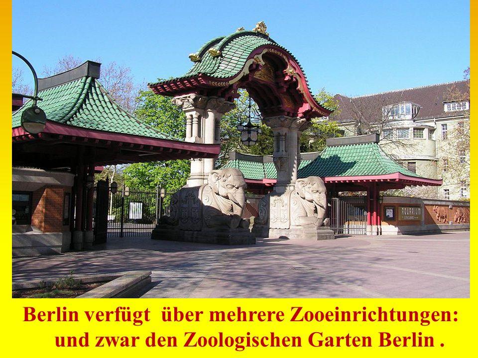 Berlin verfügt über mehrere Zooeinrichtungen: und zwar den Zoologischen Garten Berlin.