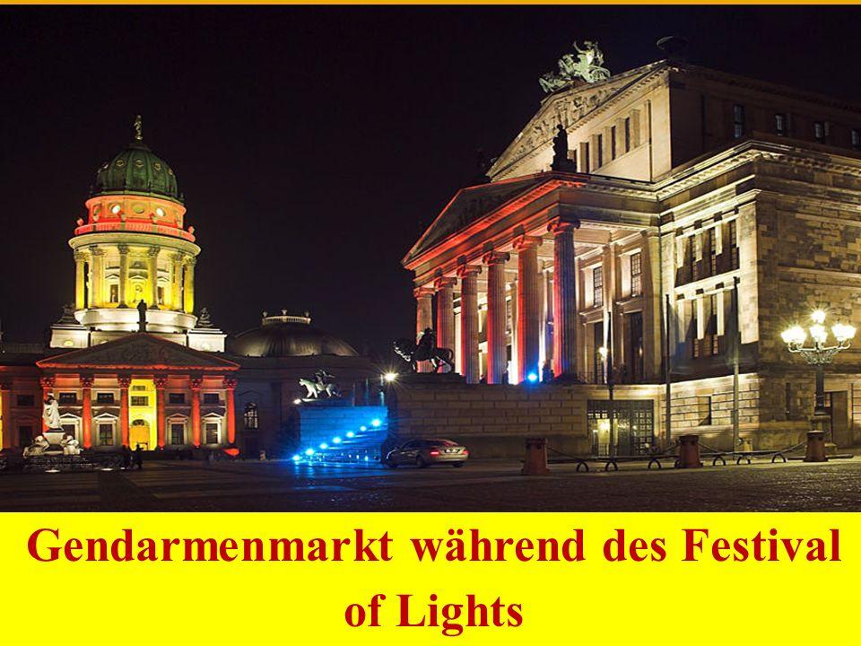 Gendarmenmarkt während des Festival of Lights