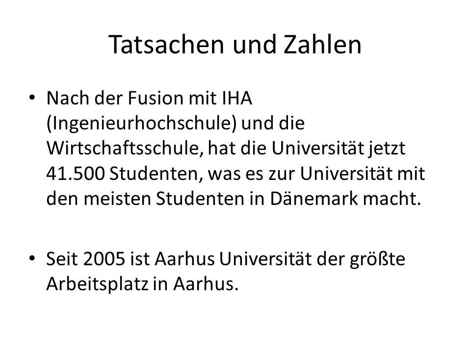 Tatsachen und Zahlen Nach der Fusion mit IHA (Ingenieurhochschule) und die Wirtschaftsschule, hat die Universität jetzt 41.500 Studenten, was es zur U