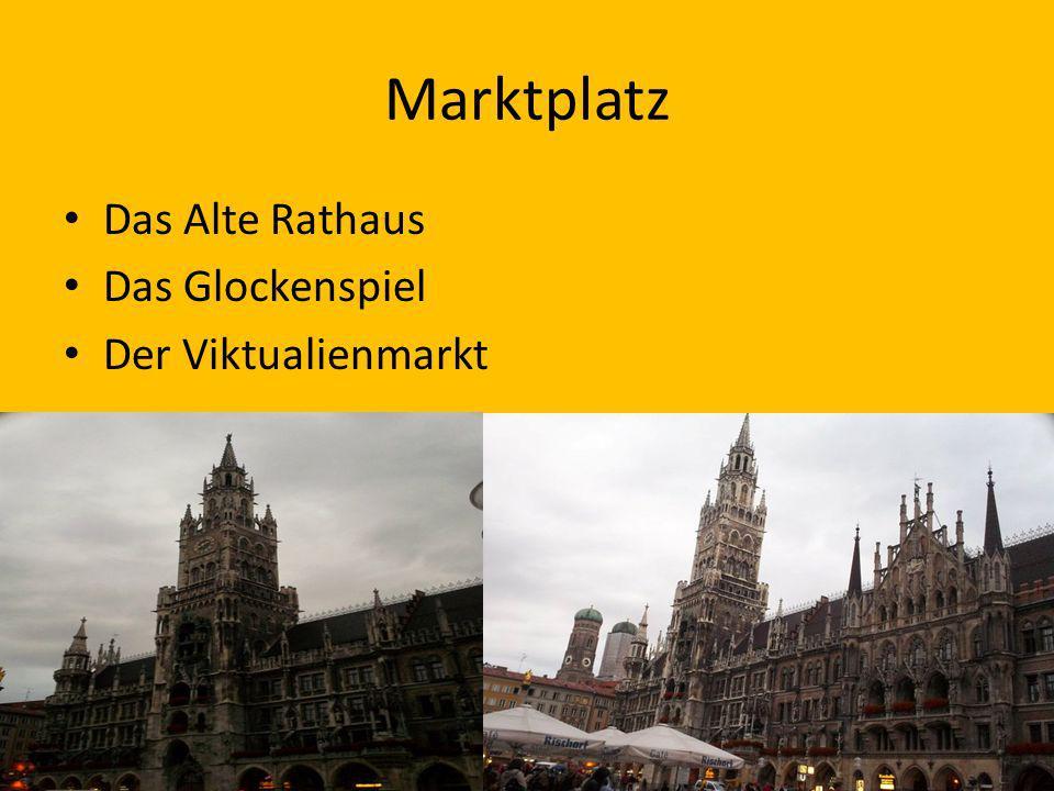 Marktplatz Das Alte Rathaus Das Glockenspiel Der Viktualienmarkt