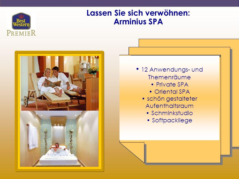 Lassen Sie sich verwöhnen: Arminius SPA 12 Anwendungs- und Themenräume Private SPA Oriental SPA schön gestalteter Aufenthaltsraum Schminkstudio Softpackliege