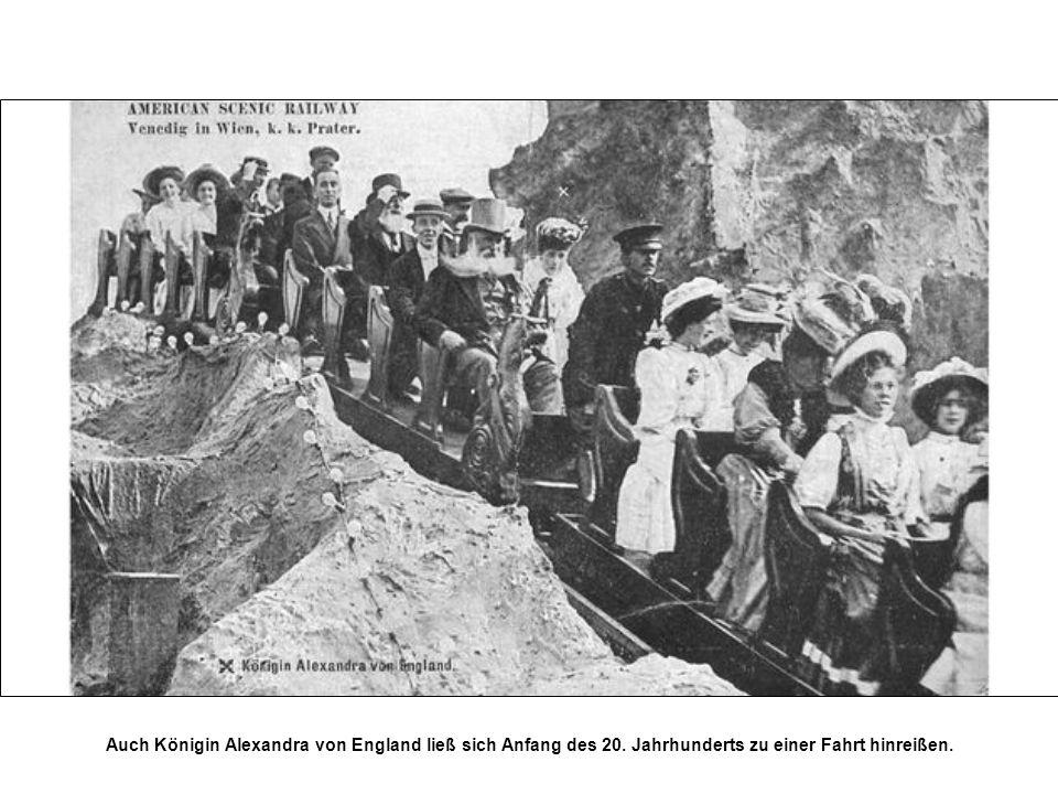 Auch Königin Alexandra von England ließ sich Anfang des 20. Jahrhunderts zu einer Fahrt hinreißen.