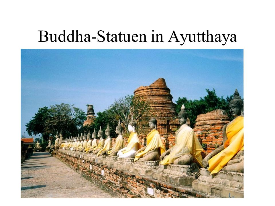 Buddha-Statuen in Ayutthaya