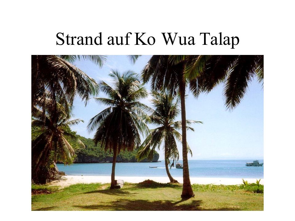 Strand auf Ko Wua Talap
