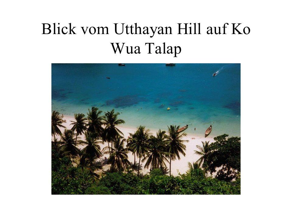 Blick vom Utthayan Hill auf Ko Wua Talap