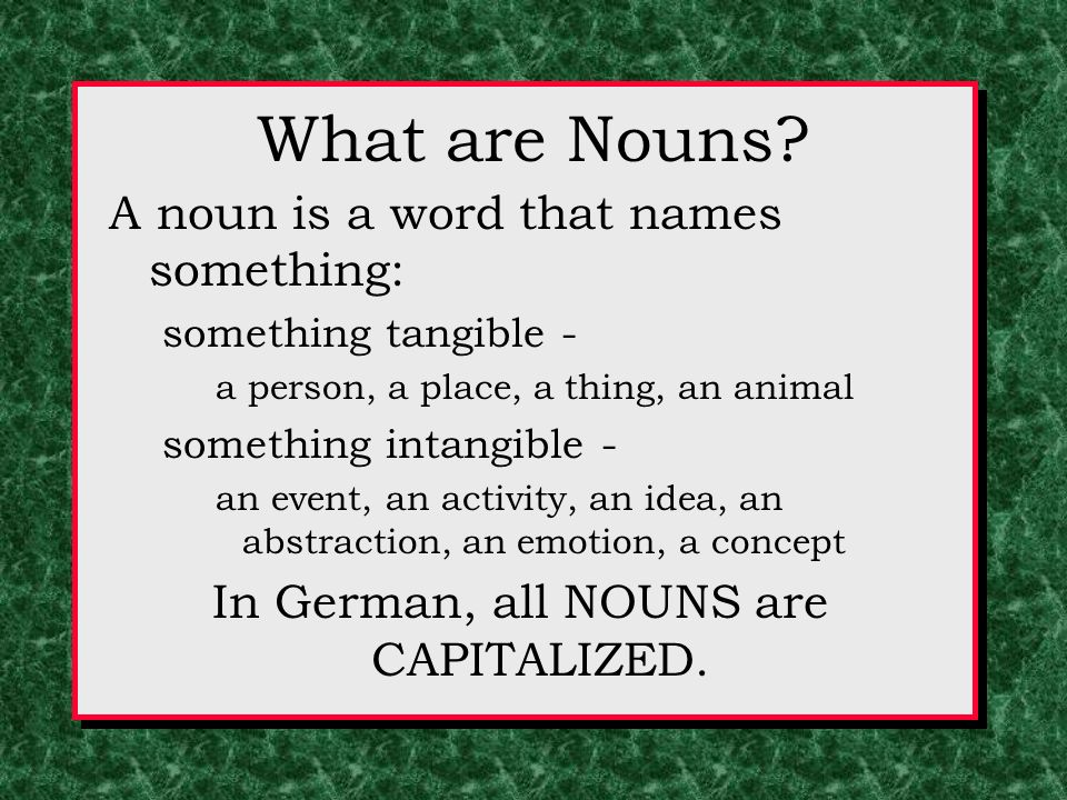 What are Nouns.