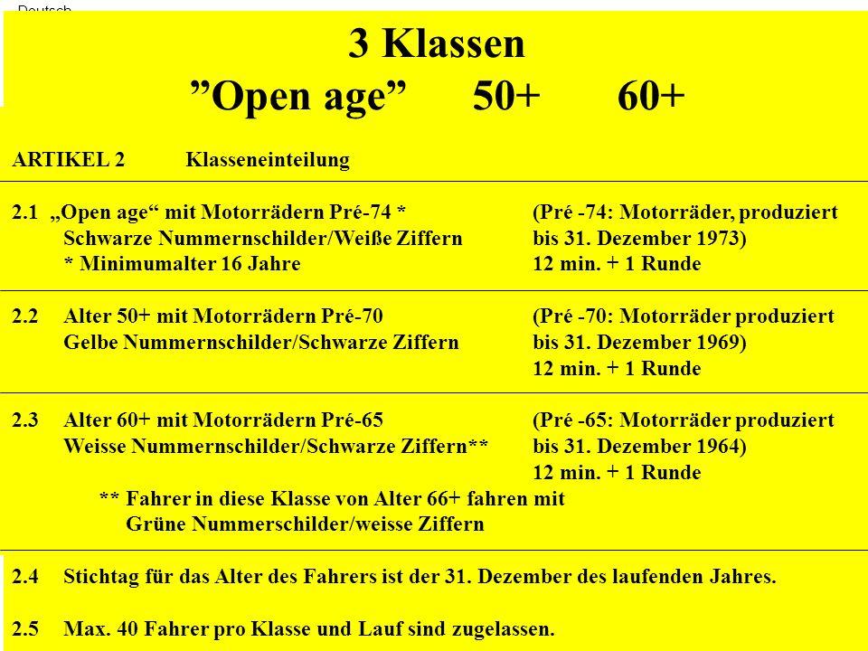 Deutsch REGLEMENT JST JEFF SMITH TROPHY Version 2011 ARTIKEL 1Zielsetzung Klassische Motorräder so original wie möglich instandzusetzen und zu erhalten und damit Rennen zu fahren, wie es in der damaligen Zeit üblich war.