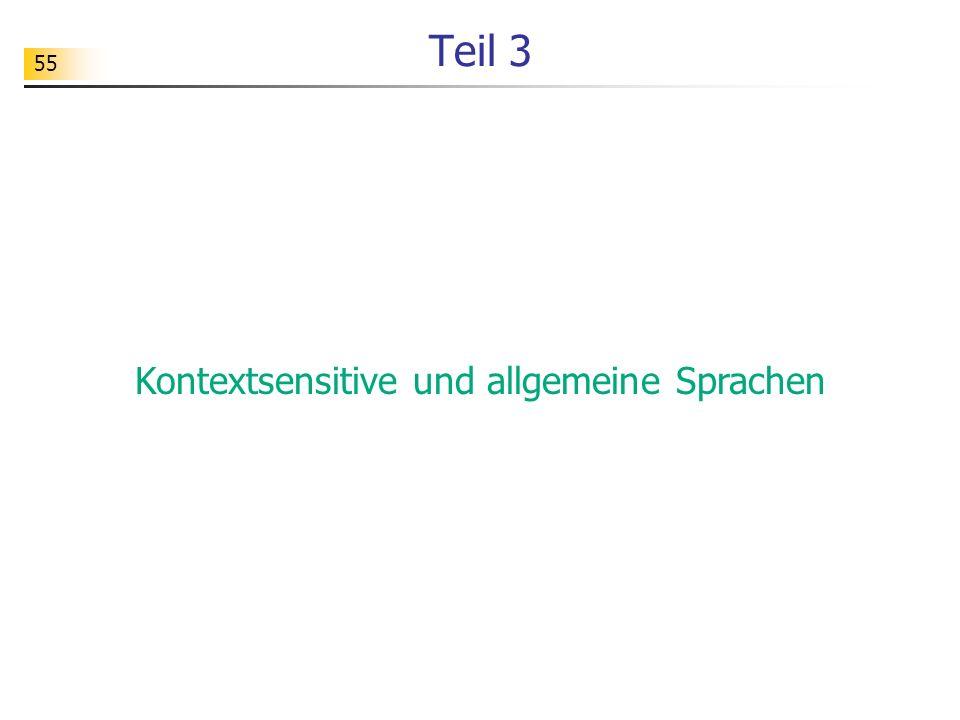 55 Teil 3 Kontextsensitive und allgemeine Sprachen