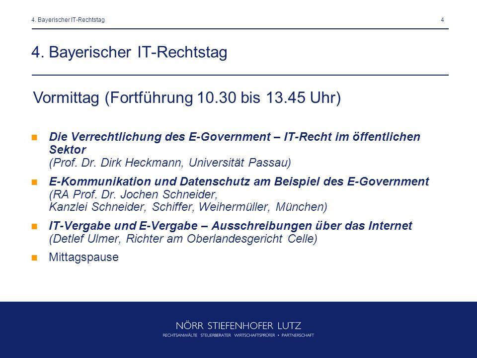 44. Bayerischer IT-Rechtstag Die Verrechtlichung des E-Government – IT-Recht im öffentlichen Sektor (Prof. Dr. Dirk Heckmann, Universität Passau) E-Ko