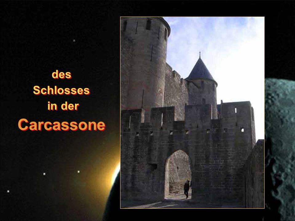 des Schlosses in der Carcassone des Schlosses in der Carcassone
