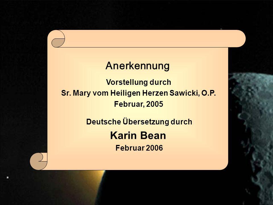 Vorstellung durch Sr.Mary vom Heiligen Herzen Sawicki, O.P.