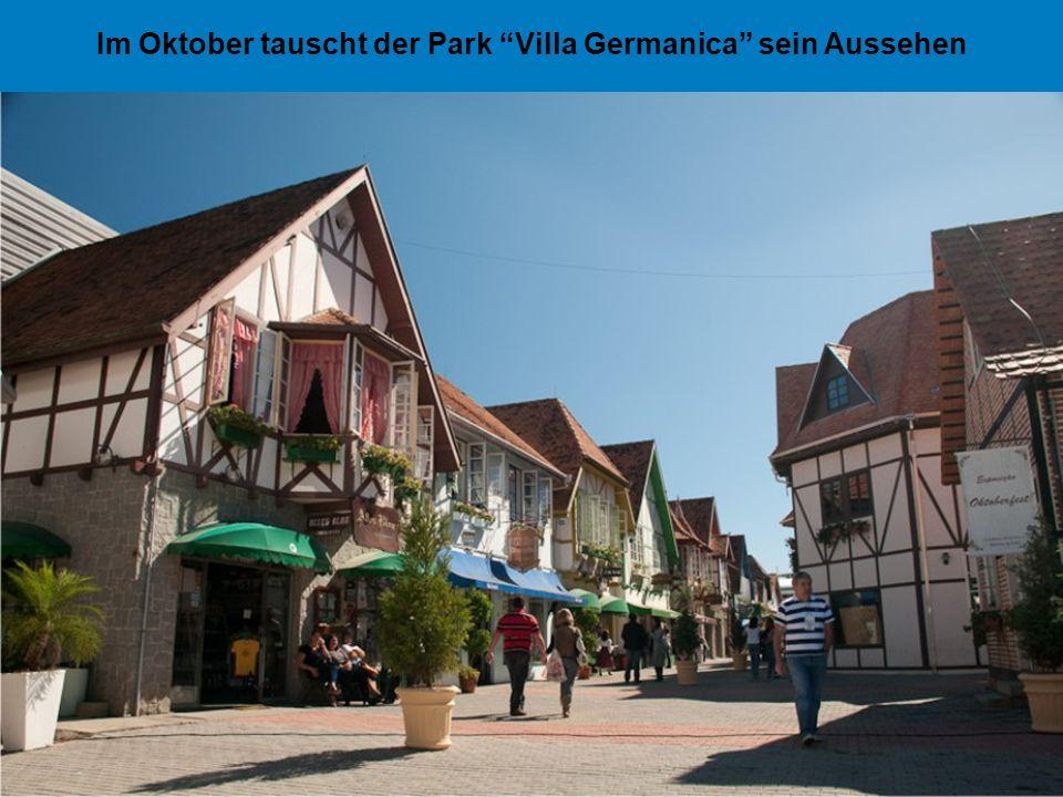 Im Oktober tauscht der Park Villa Germanica sein Aussehen